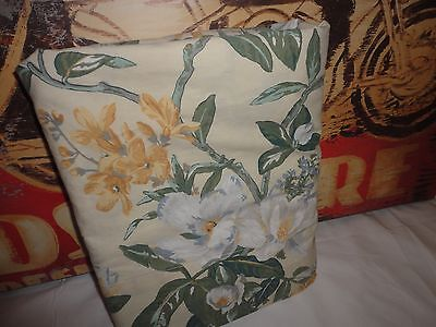 VINTAGE WESTPOINT QUAKER HILL MAGNOLIA GREEN GOLD CREAM FLORAL QUEEN FLAT SHEET, used for sale  Peoria