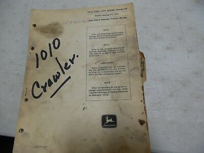 John Deere 1010 Series Crawler Parts Manual Pc-727