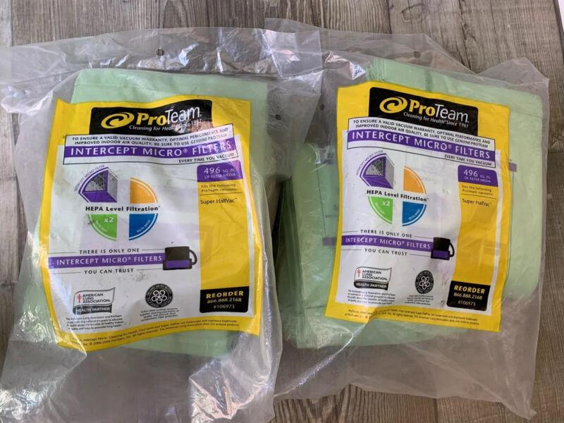 ProTeam Hepa 106973 Super HalfVac Intercept Micro Paper Vacuum Filter Bags