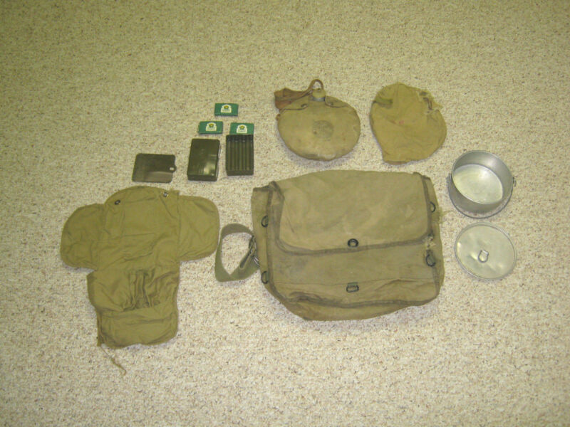 Boy Scout vintage equipment kit, backpack, canteen, 1940s-1950s?