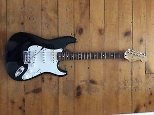 Black Fender Stratocaster MIM Rosewood Neck