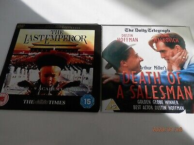 Promo DVD's; Death Of A Salesman & The Last Emperor ( O'Toole ).. Freepost