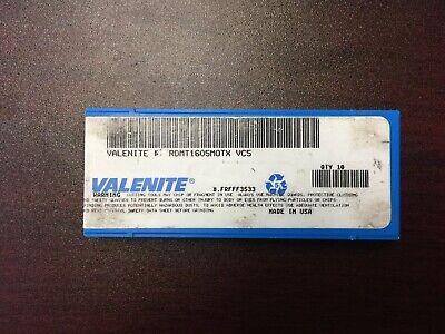 Valenite Milling Inserts Rdmt1605motx Vc5 Pack Of 10