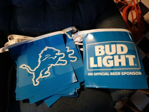 bud light detroit lions pennants 2 pack..free shipping...