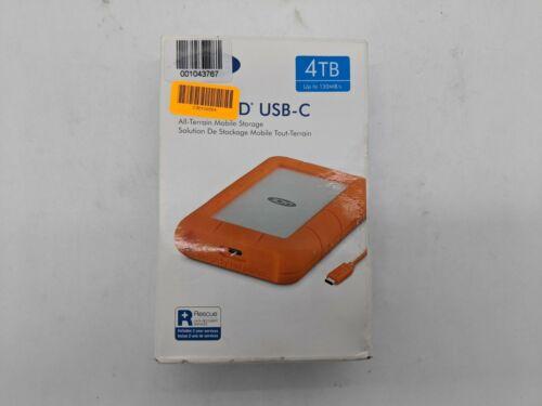 New Lacie 4TB Rugged USB-C STFR4000800 External HDD -NG0796