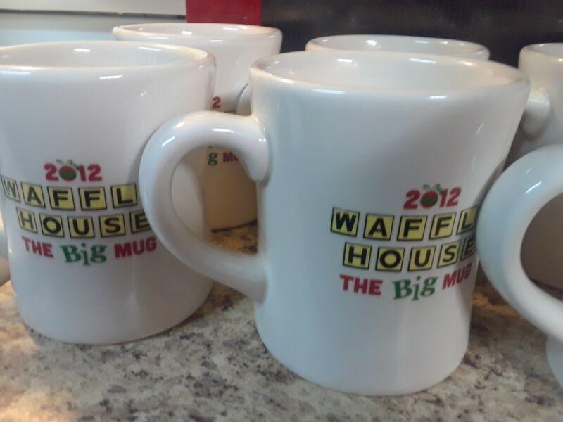 4 Waffle House Coffee 2012 The Big Mugs Christmas Holiday,Tuxton (4 more avail)