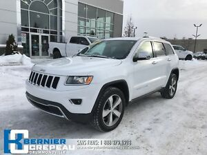 2016 Jeep Grand Cherokee Limited **TOIT, CAMERA, GPS, CUIR + WOW