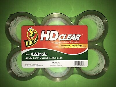Duck Hd Clear Tape Packaging 6 Rolls Pack Duck Heavy Duty New Packing Boxes 328