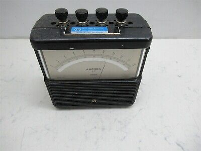 Vintage Weston 901 Amperes Dc Amp Meter 0-2 Lab Unit Steampunk Style Analog