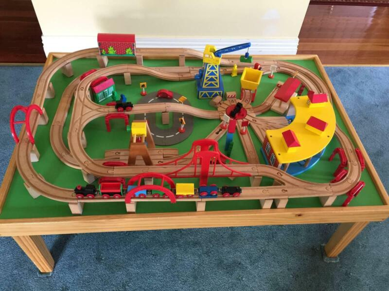 Maxim Wooden Train Set Toys Indoor Gumtree Australia Darebin