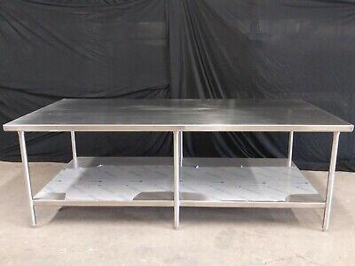 Island Work Table With Under Shelf 96 X 48 X 34 Tall
