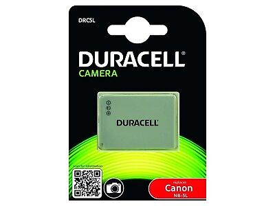 Duracell Premium Analog Canon NB-5L Battery for ixus 800 PowerShot S100 SX200...