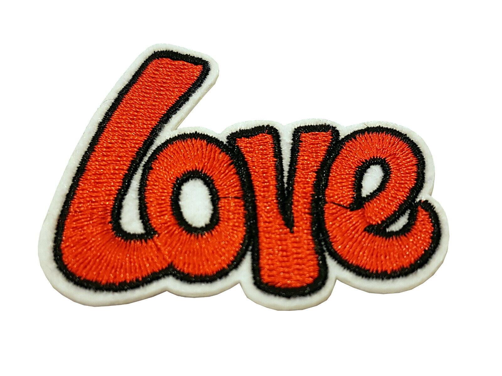 Patch Love - gestickter Aufnäher Flicken Bügelbild zum aufbügeln oder aufnähen