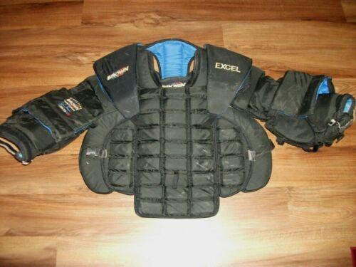 JOHN BROWN EXCEL JB503 HOCKEY GOALIE BODY ARMOR CHEST & ARM PROTECTOR SENIOR
