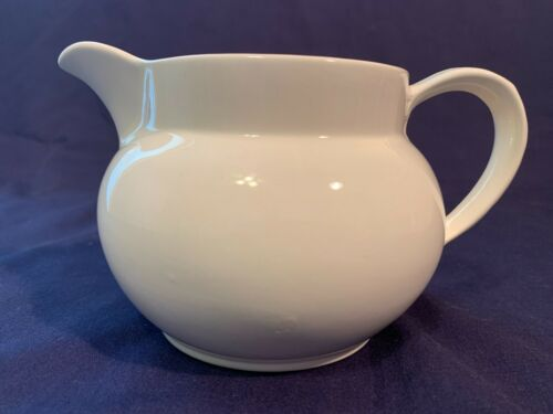 Vintage Lord Nelson Pottery White Ironstone Pitcher Made in England