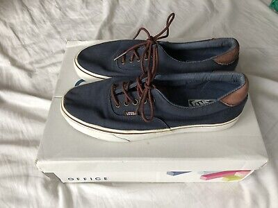 Vans Canvas Blue And Brown UK 9