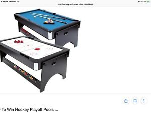 Air hockey / pool table 2 in 1 9/10 great shape