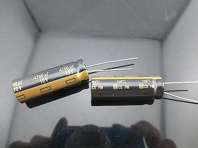2 Japan Panasonic Fm 4700uf 10v 4700mfd Impedance Electrolytic Capacitors