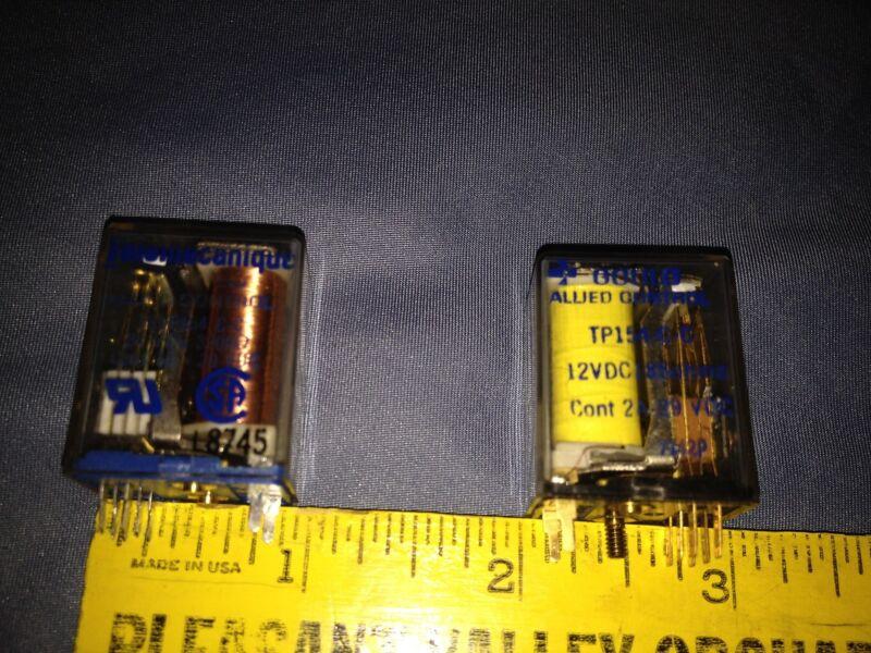 2 Vintage Allied Control Relays (1) Gould 12 VDC, NOS & Telemecanique 24VDC Used