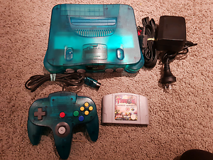 Ice Blue Nintendo 64 N64 Controller & Game Highland Park Gold Coast City Preview