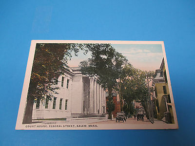 Court House Federal Street  Salem Mass Vintage Colorful Postcard Pc21