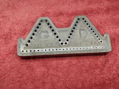 Vintage Greenfield Tool Drill 60 Bit Index Holder GTD Mass USA