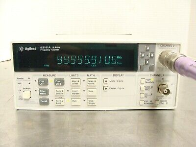 Hp Agilent 53181a 10 Digit Rf Frequency Counter 225mhz - 12.4ghz - No Options