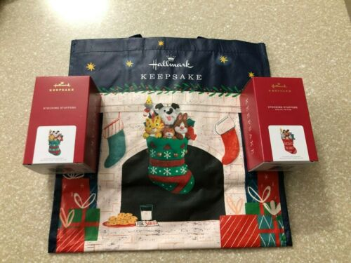 2021 Hallmark Stocking Stuffers 1st in Series & Limited Edition Repaint & Tote
