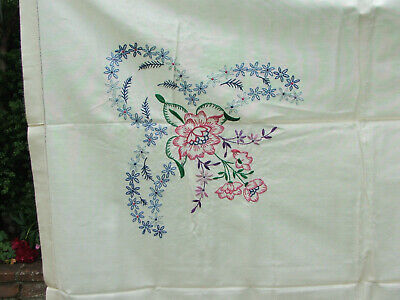 Vintage 1940s Embroided Table Cloth 49.5