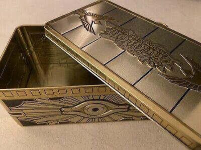 "YUGIOH 2019 MEGA TIN ""EMPTY OPENED"" COLLECTABLE TIN! GOLD SARCOPHAGUS TIN"