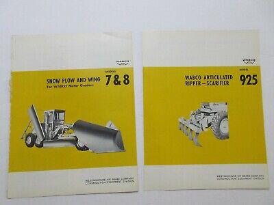 Rare Wabco Literature Attachment Sales Sheets 1965666768