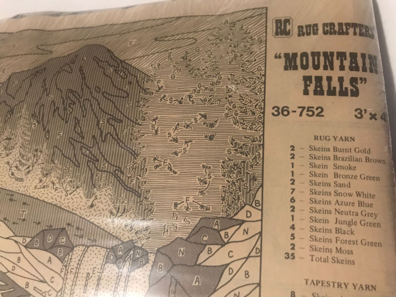 Rug Crafters Speed Tufting Mountain Falls 3' X 4'