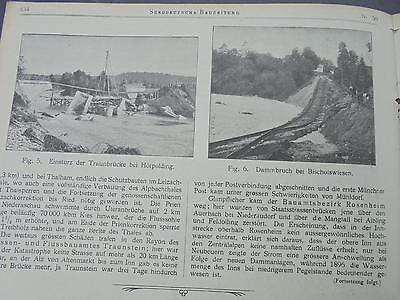 1901 Sdt. Bauzeitung 50 / Passau Hochwasser Hörpolding / Jahn Neckargemünd