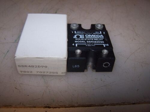 NEW OMEGA SSR482D90 SOLID STATE RELAY INPUT 4-32 VOLT OUTPUT 480 VAC 90A
