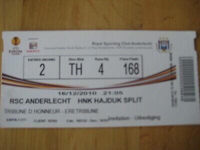 Ticket: Anderlecht - Hajduk Split UEFA (16-12-10)