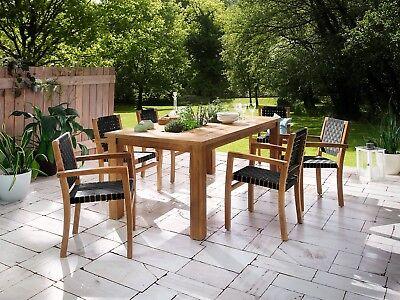 Gartenmöbel Sitzgruppe Tisch mit Fach 200×100 Teak +6x… |