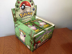Pokemon 1st Edition Jungle Booster Pack Factory Sealed Mint from Box