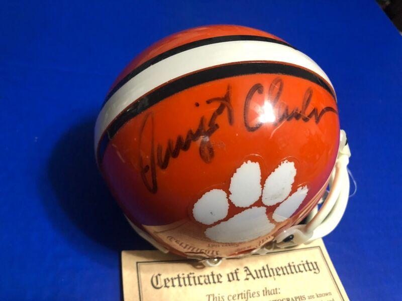Dwight Clark CLEMSON TIGERS Autograph Mini Helmet with COA