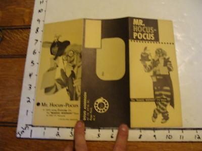 "Vintage DOUG ANDERSON TRI-FOLD BROCHURE ""MR. HOCUS-POCUS"""