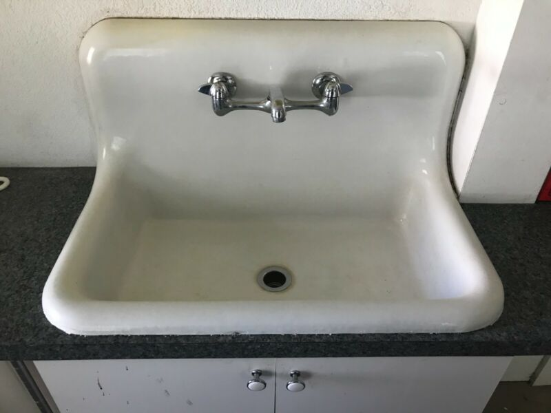 cast iron sink 30 inches wide