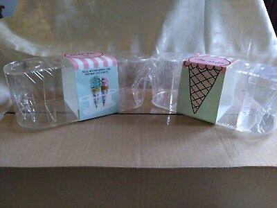 Case Of 20 - Acrylic Ice Cream Cone Holder Stand By Bullseyes Playground