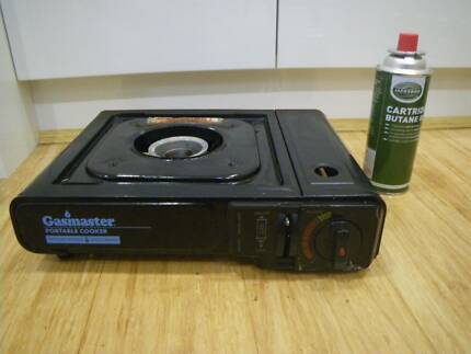 GASMATE PORTABLE COOKING GAS STOVE IN CARRY CASE & FULL GAS BOTTL