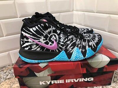 72a7f4e27013 Nike Kyrie 4 All Star Tie Dye Black White Purple Blue Pink AQ8623-001 SZ