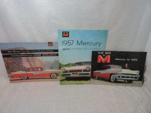 3 1956 & 1957 FORD MERCURY DREAM CAR DESIGN BROCHURE THE BIG M