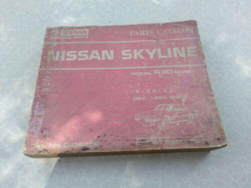 nissan skyline R30 parts catalog