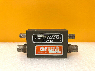 Ar Amplifier Research Dc5000 220 To 400 Mhz Dual Directional Coupler. Tested