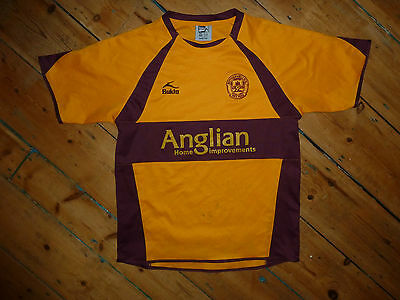 SIGNED small Motherwell FC Football Shirt HOME Soccer Jersey 2007/08 Scottish image