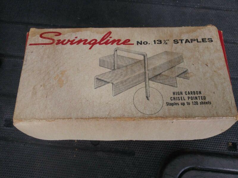 "Vintage Swingline High Carbon Wire Chisel Point No. 13 1/2"" Staples, 10k Case"
