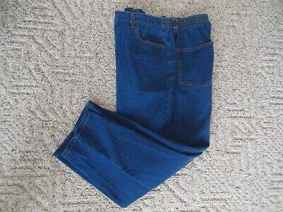Blair Woman 18 S P Denim Elastic Back Zip Fly Crop Jeans Capris Pockets Quality Back Zip Capri Jeans