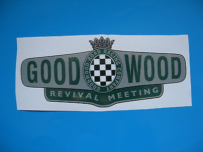 GOODWOOD REVIVAL MEETING Race/Rally Decals x2